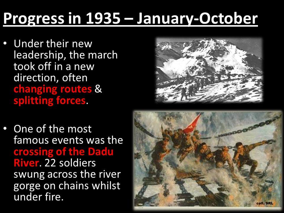 Progress in 1935 – January-October