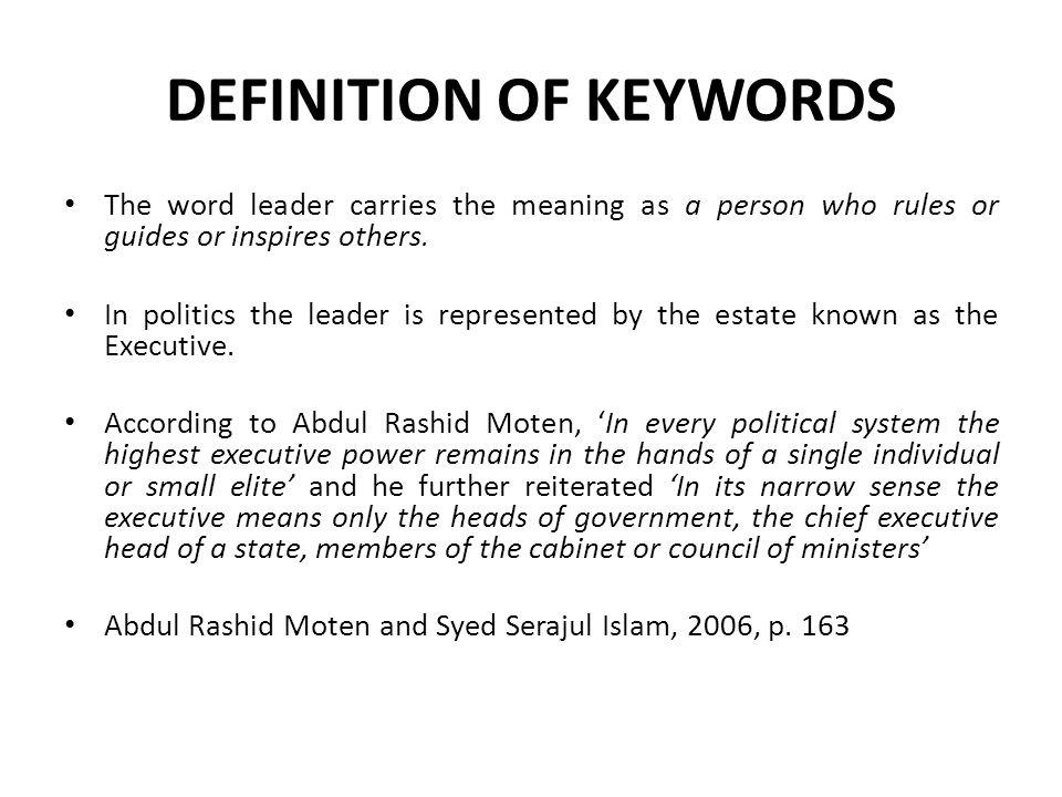 Definition of Keywords