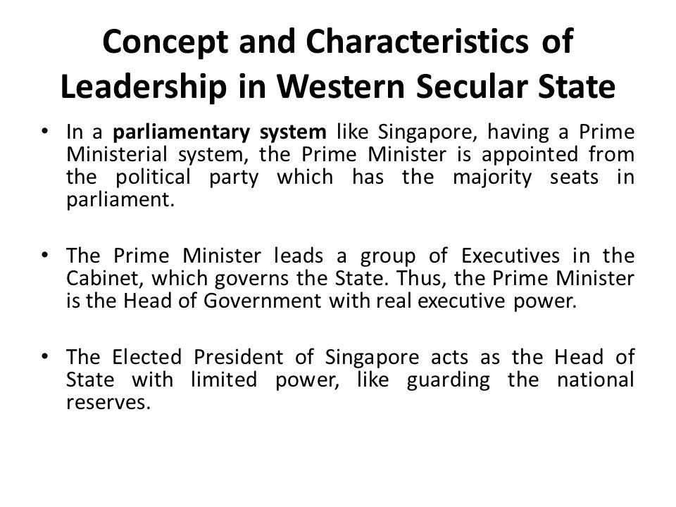 Concept and Characteristics of Leadership in Western Secular State