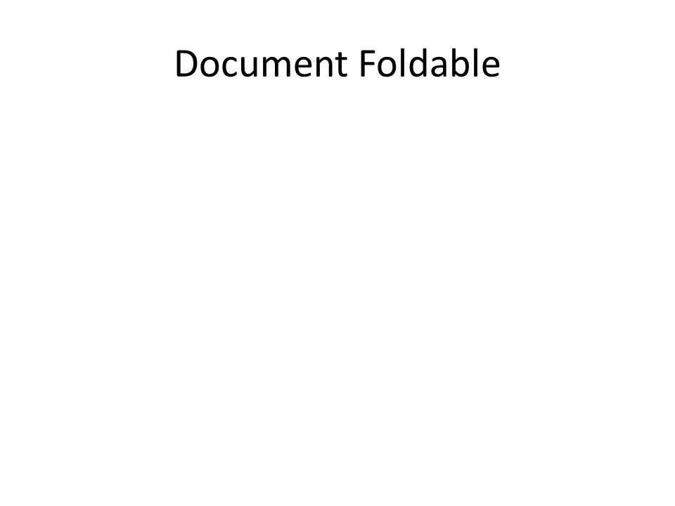 Document Foldable