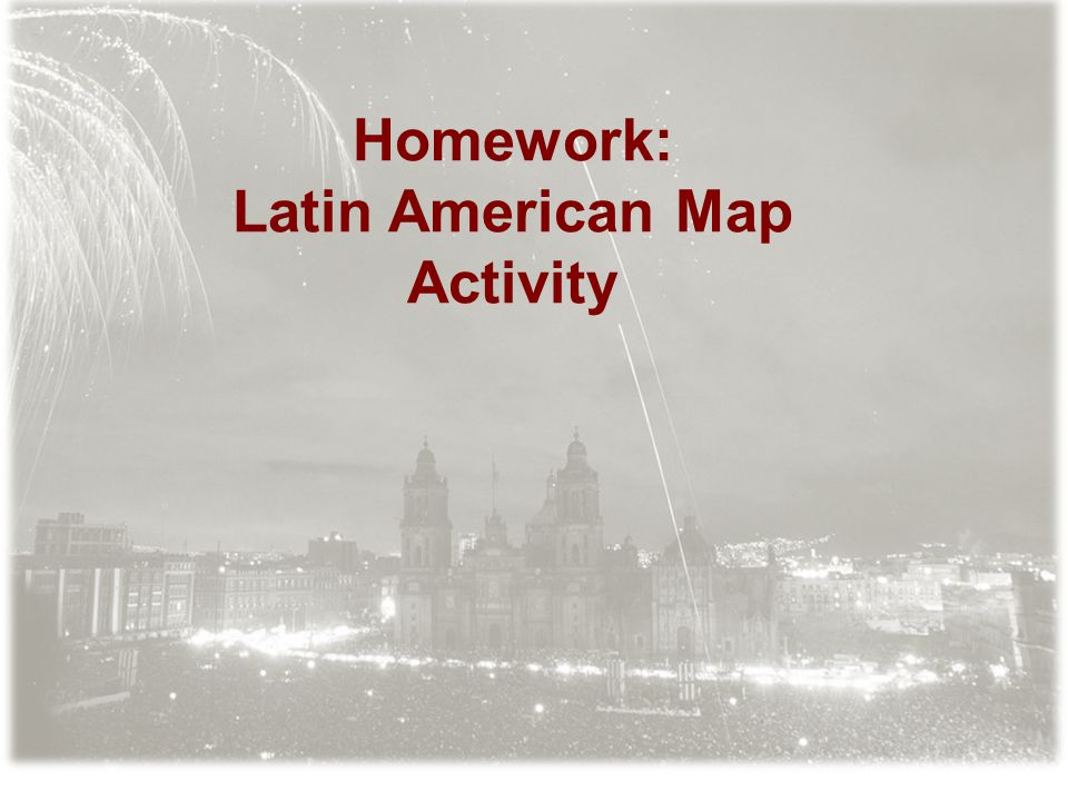 Latin American Map Activity