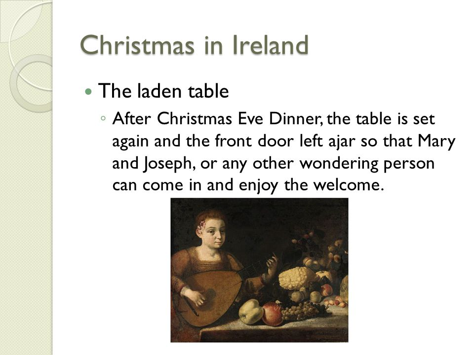 Christmas in Ireland The laden table