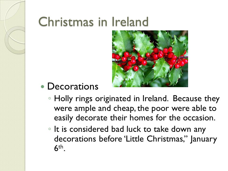 Christmas in Ireland Decorations