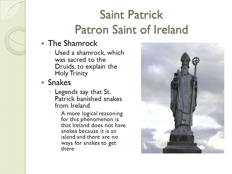 Saint Patrick Patron Saint of Ireland
