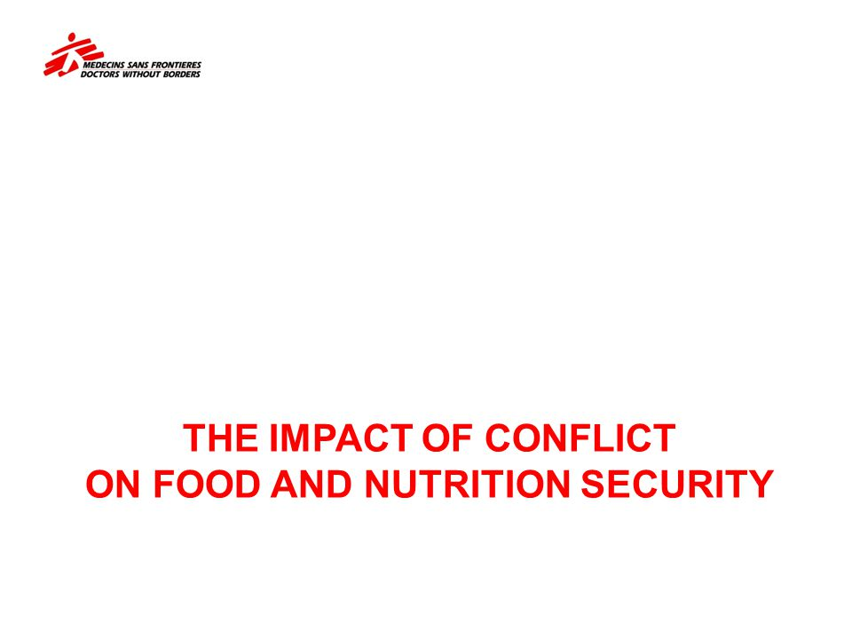 The impact of CONFLICT on food and nutrition security