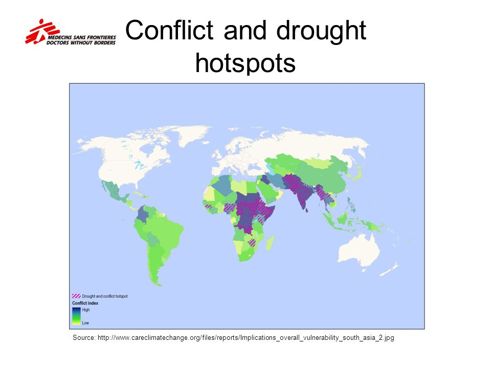 Conflict and drought hotspots