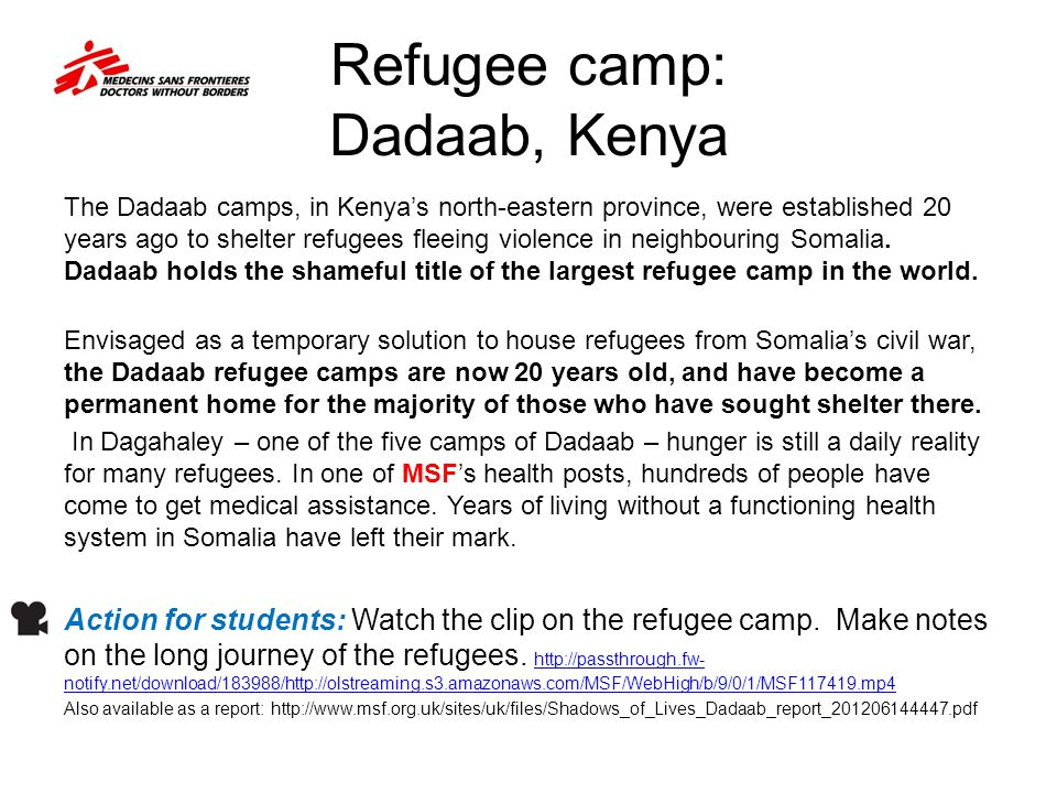 Refugee camp: Dadaab, Kenya