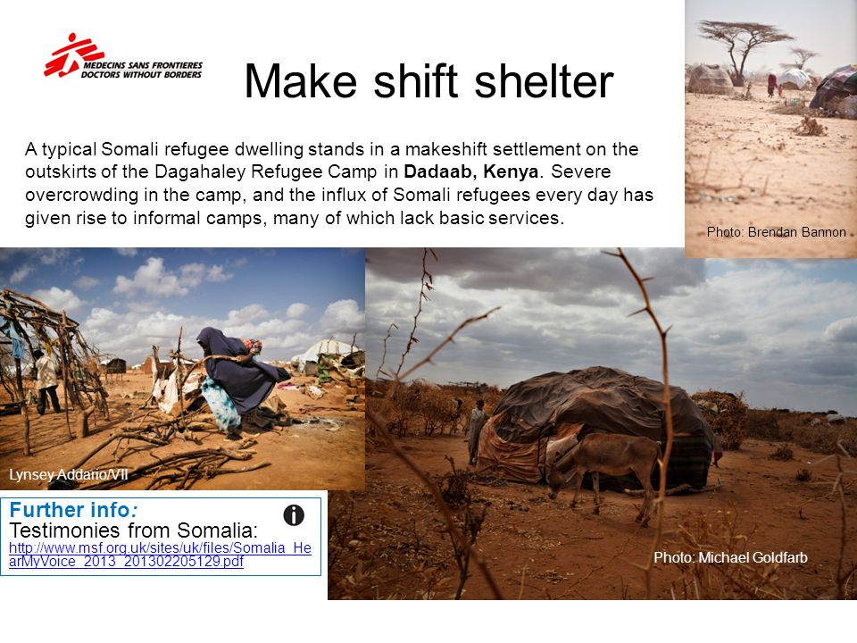 Make shift shelter Further info: