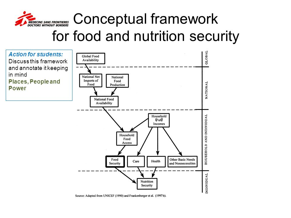 Conceptual framework for food and nutrition security