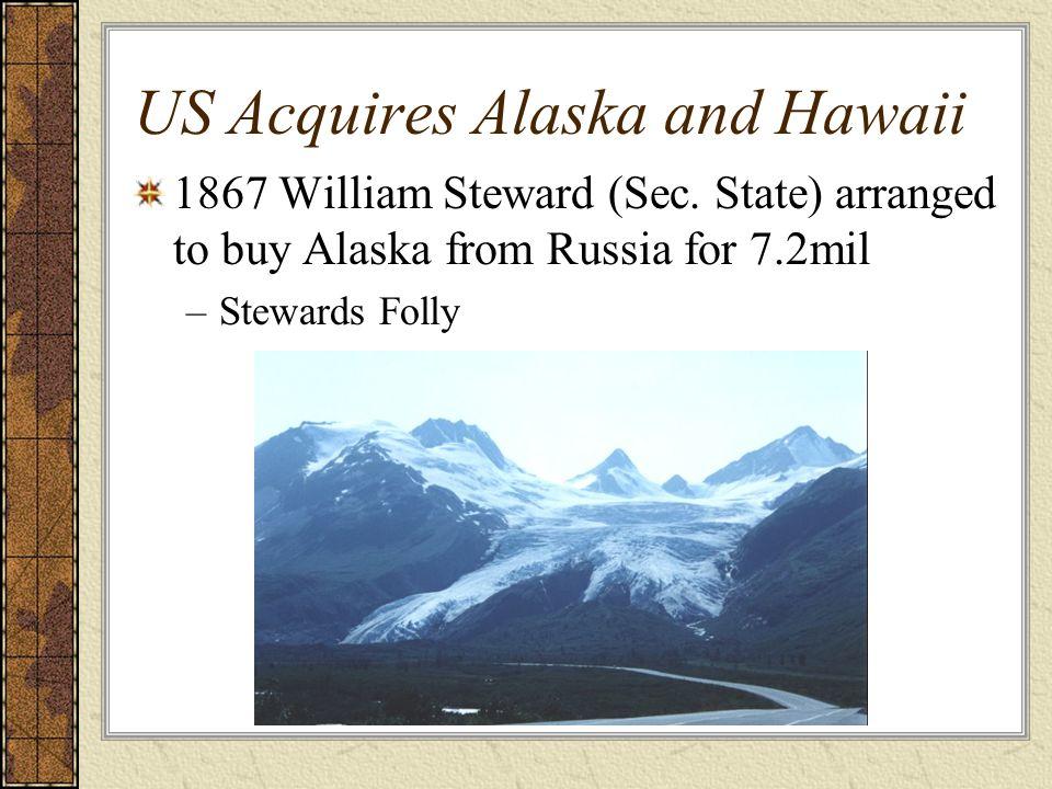 US Acquires Alaska and Hawaii