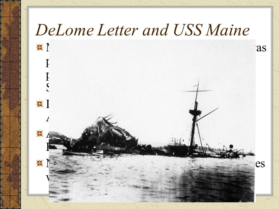 DeLome Letter and USS Maine