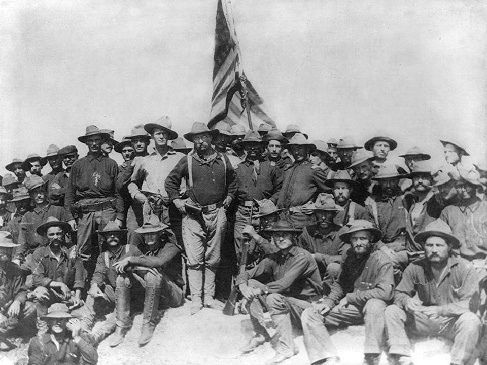 War Begins War begins in Philippines- Comm. George Dewey opens fire on Spanish fleet, destroys all ships lands Marines.