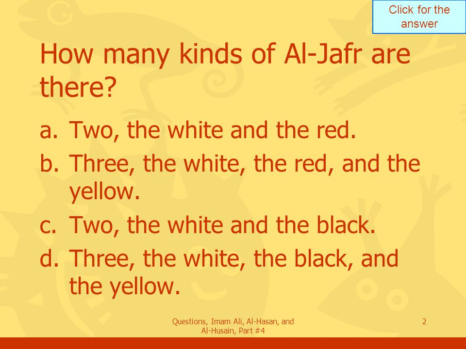 How many kinds of Al-Jafr are there