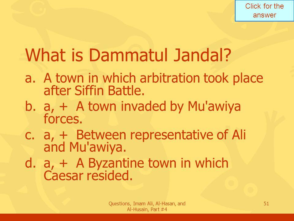 What is Dammatul Jandal