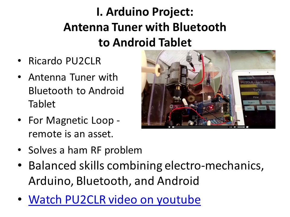 I. Arduino Project: Antenna Tuner with Bluetooth to Android Tablet