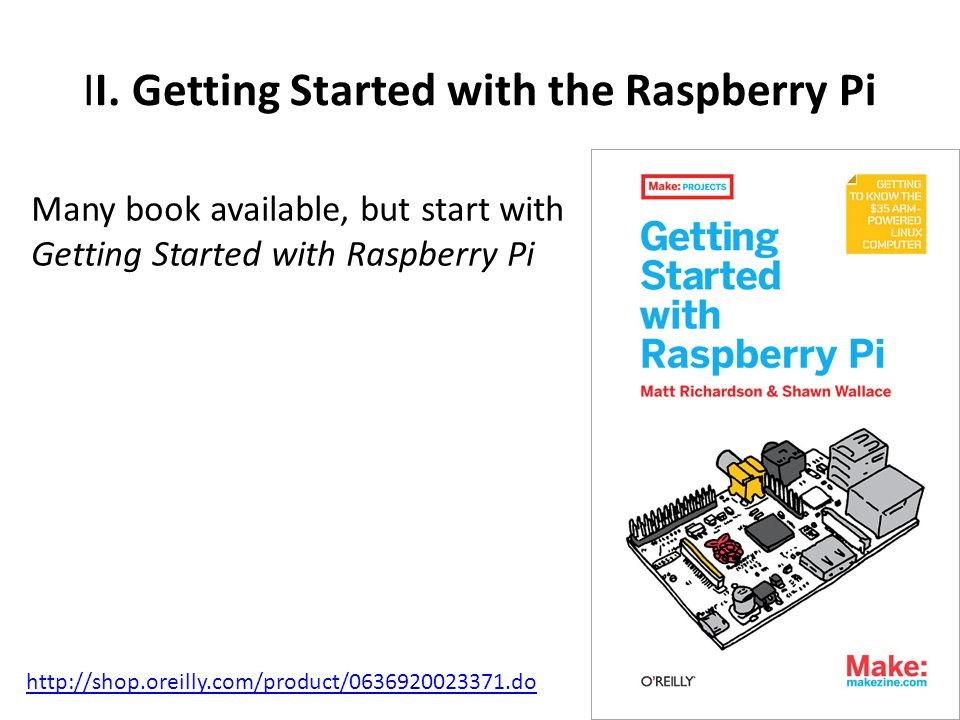 II. Getting Started with the Raspberry Pi