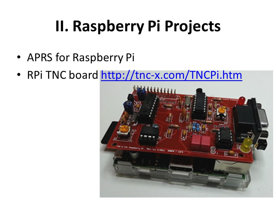 II. Raspberry Pi Projects