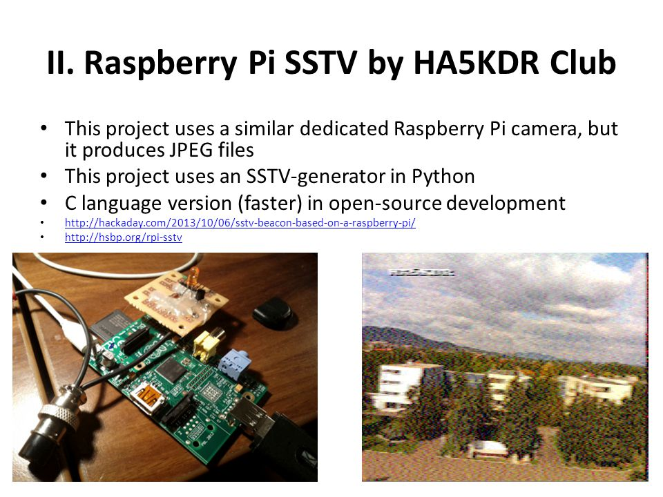 II. Raspberry Pi SSTV by HA5KDR Club