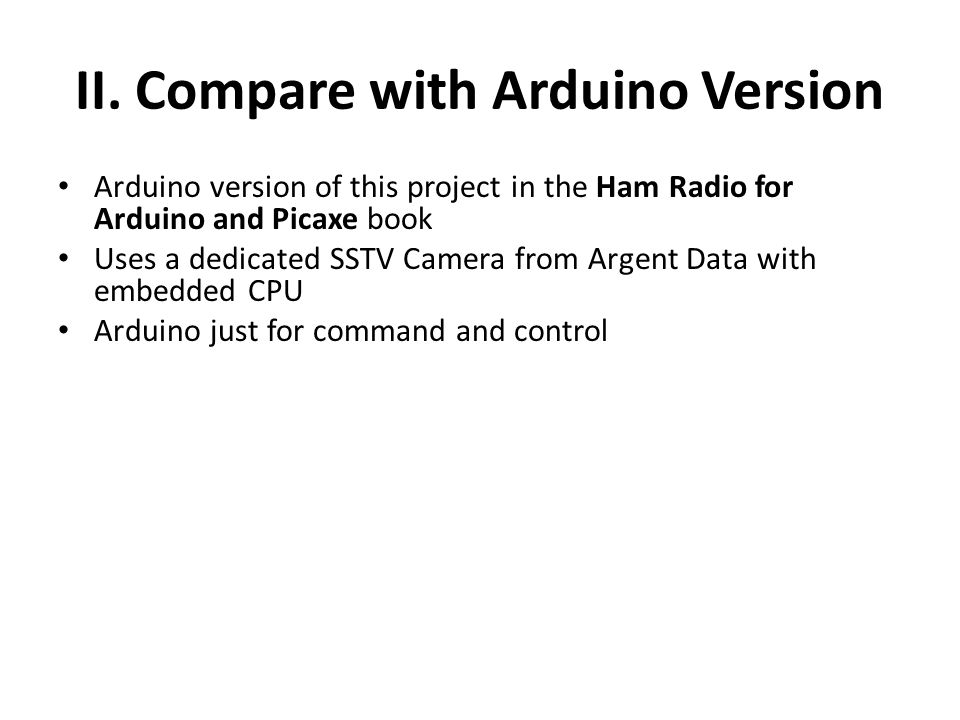 II. Compare with Arduino Version
