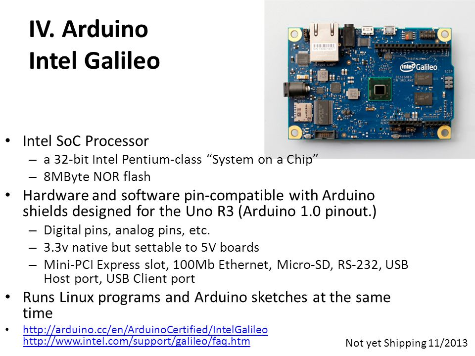 IV. Arduino Intel Galileo