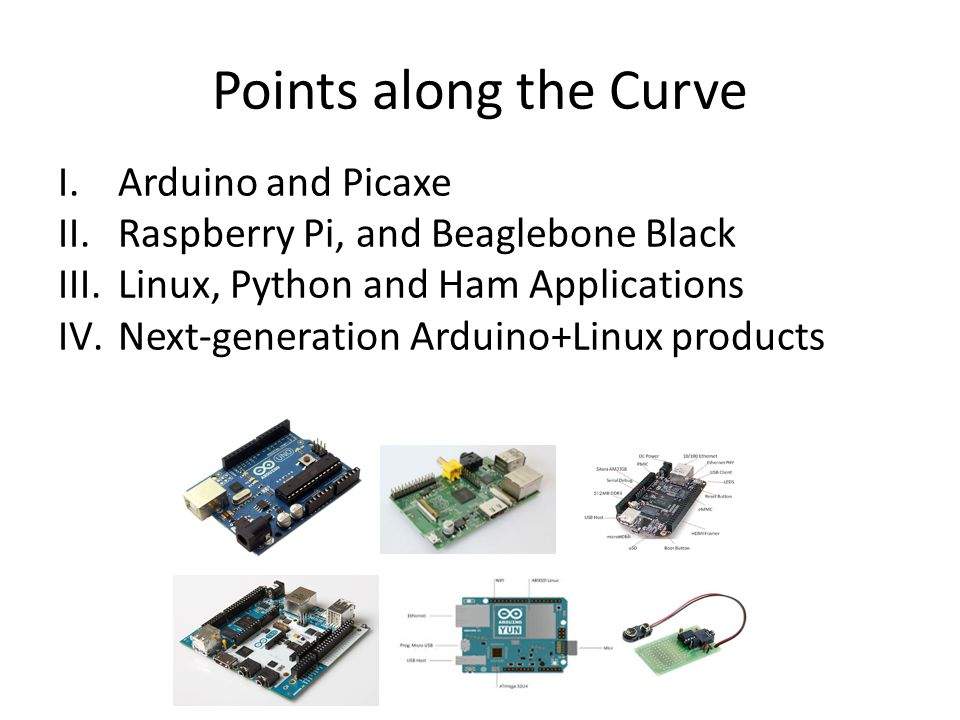 Points along the Curve Arduino and Picaxe