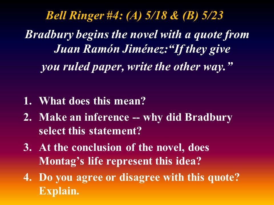 Bell Ringer #4: (A) 5/18 & (B) 5/23