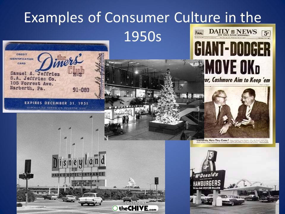 Examples of Consumer Culture in the 1950s