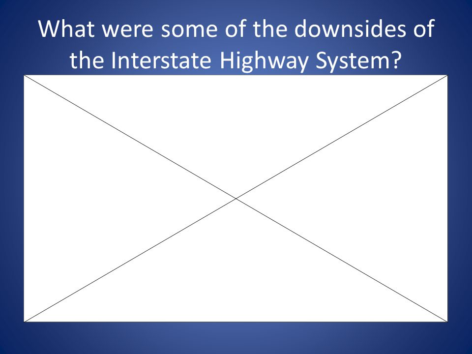 What were some of the downsides of the Interstate Highway System
