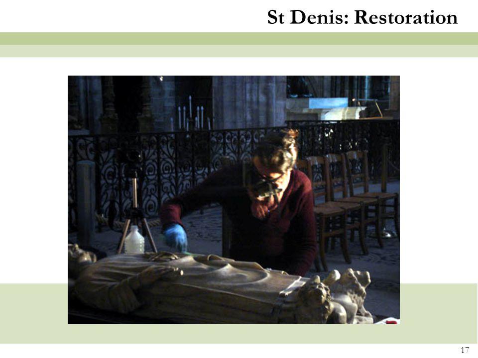 St Denis: Restoration