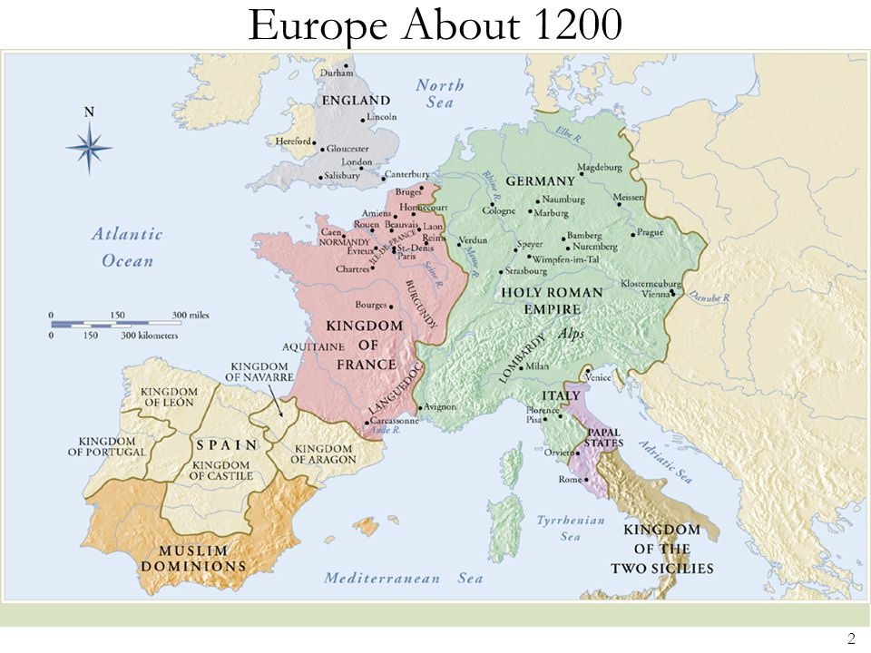 Europe About 1200