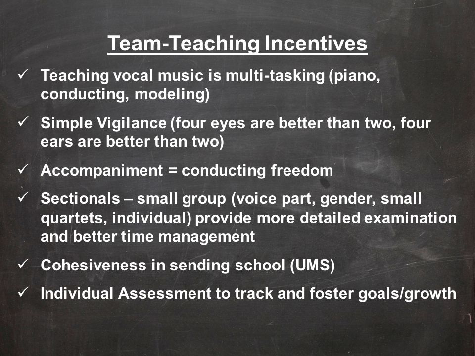 Team-Teaching Incentives