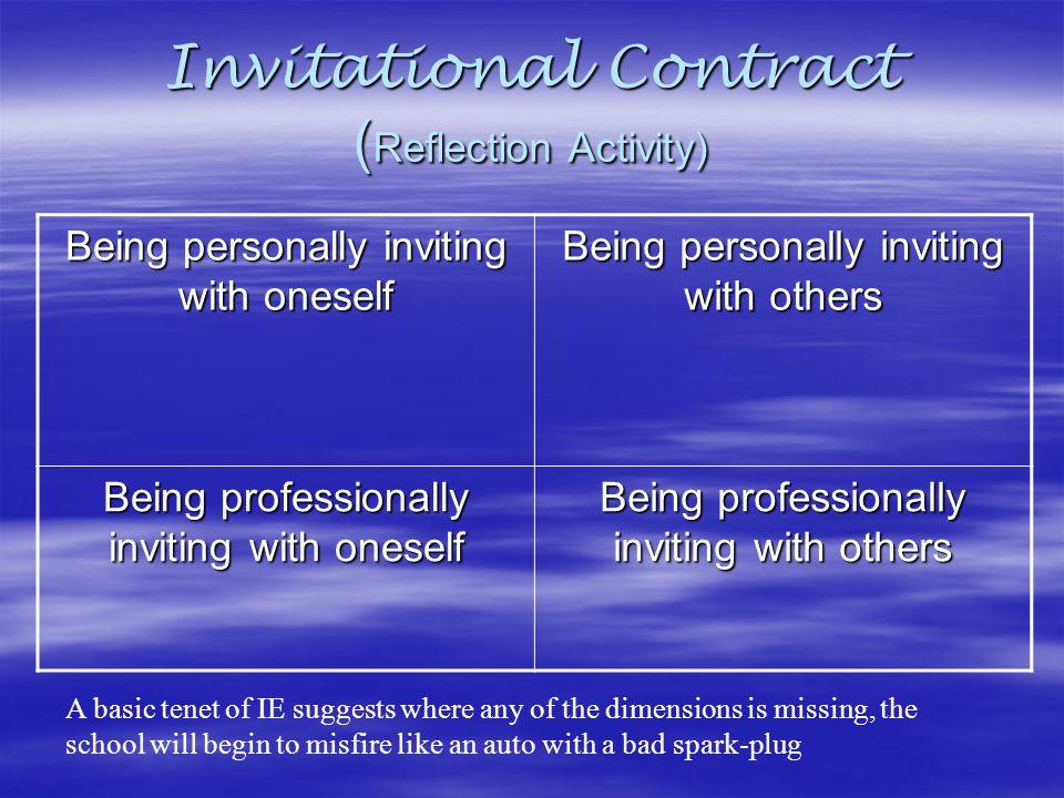 Invitational Contract (Reflection Activity)
