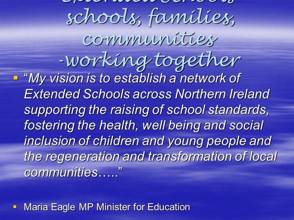 Extended Schools schools, families, communities -working together