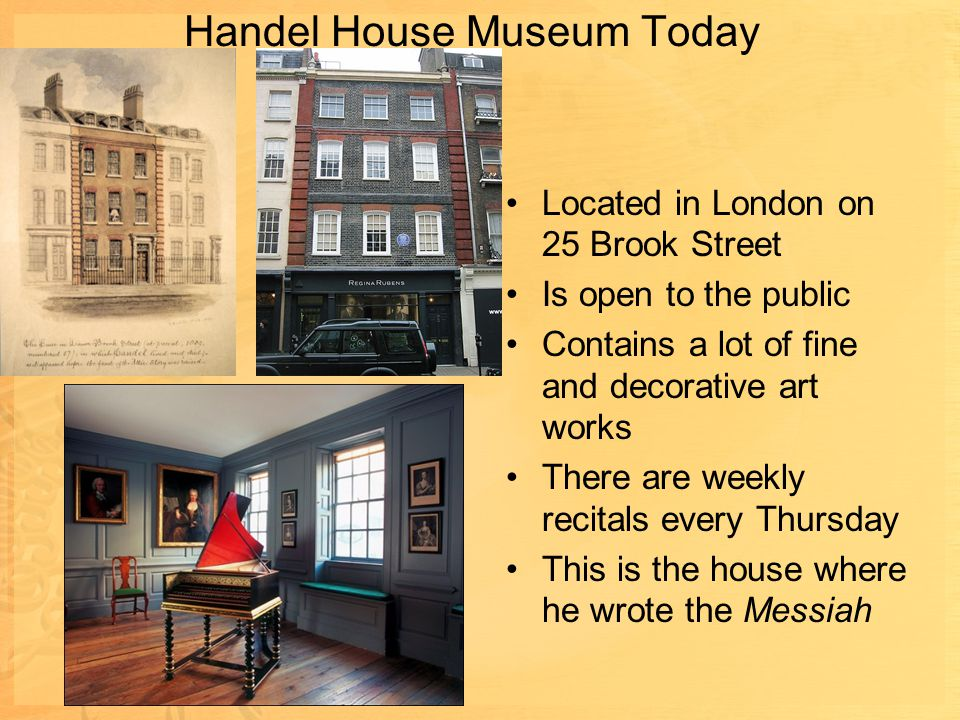 Handel House Museum Today