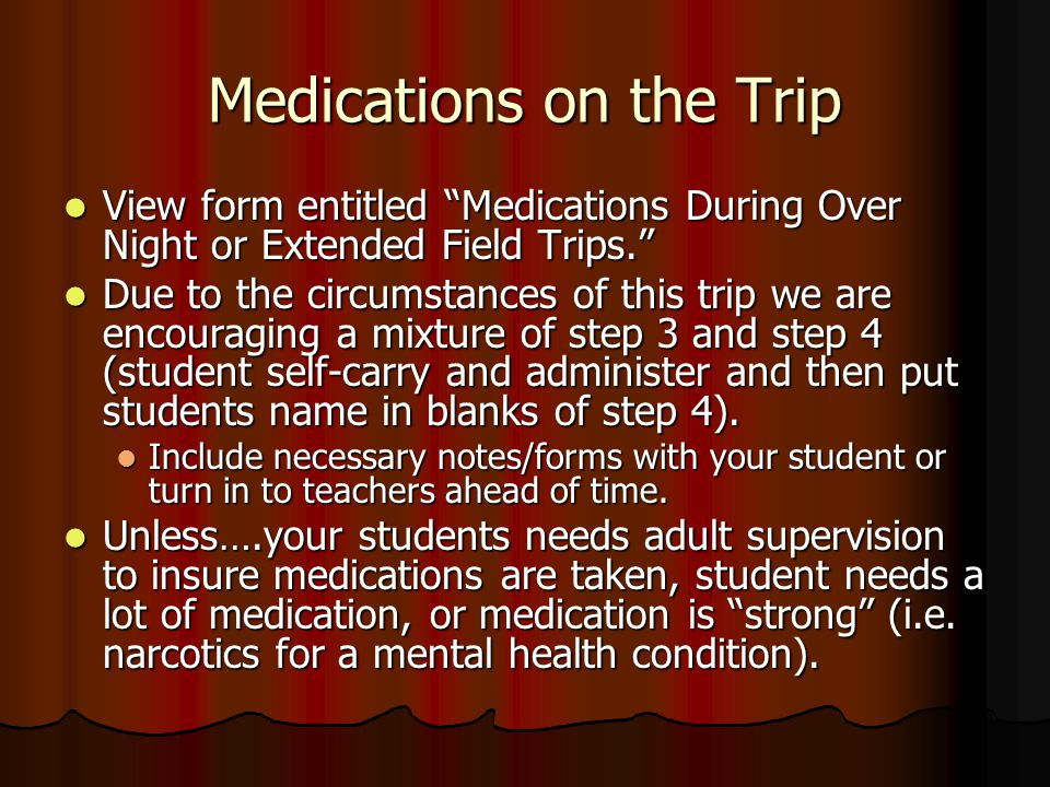 Medications on the Trip