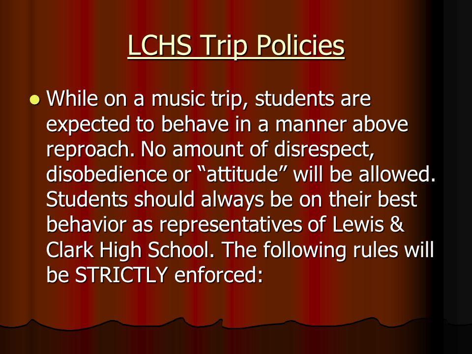 LCHS Trip Policies