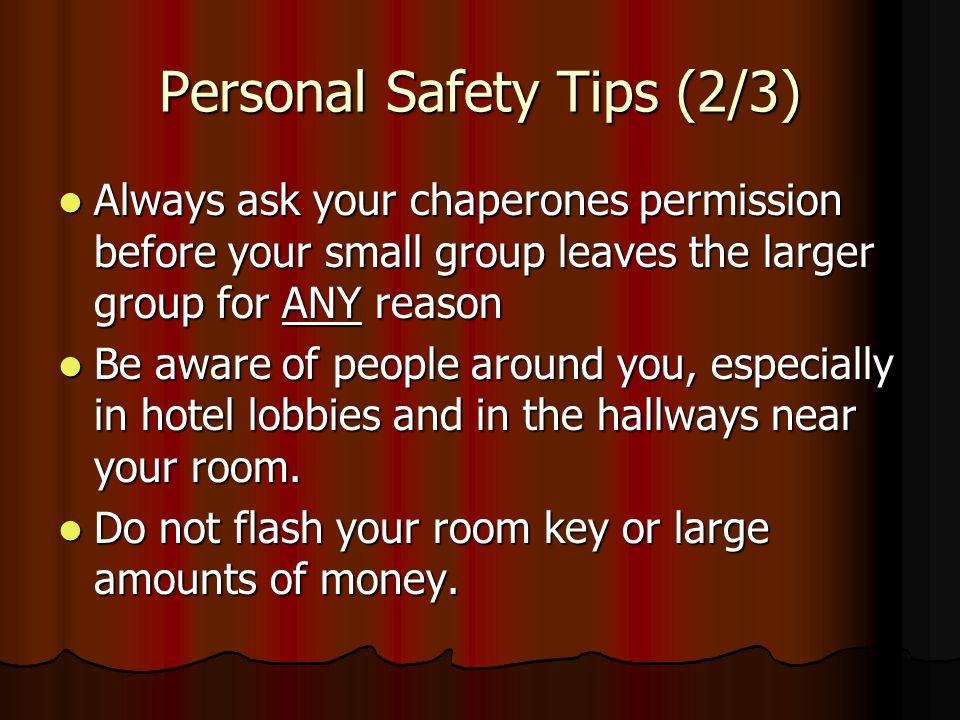 Personal Safety Tips (2/3)
