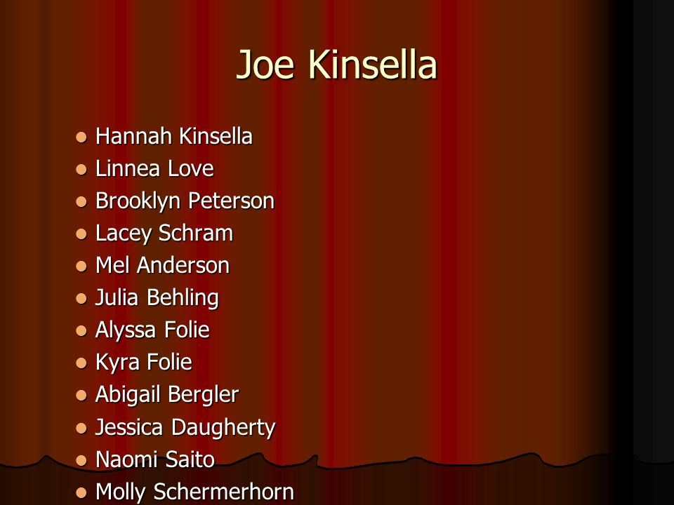 Joe Kinsella Hannah Kinsella Linnea Love Brooklyn Peterson