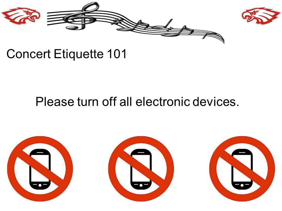 Please turn off all electronic devices.