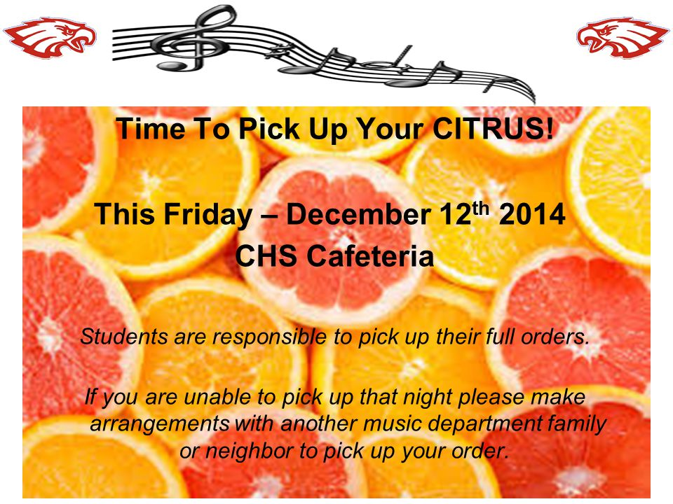 Time To Pick Up Your CITRUS!