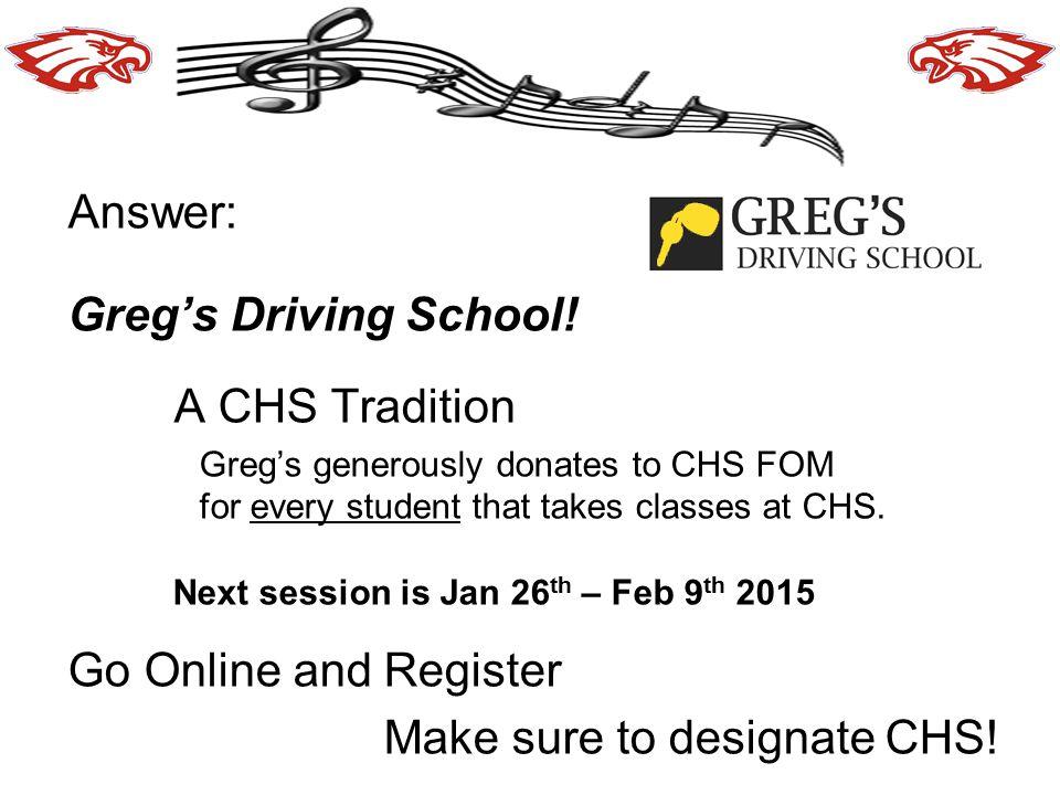 Make sure to designate CHS!