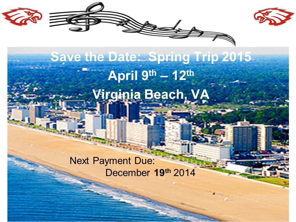 Save the Date: Spring Trip 2015