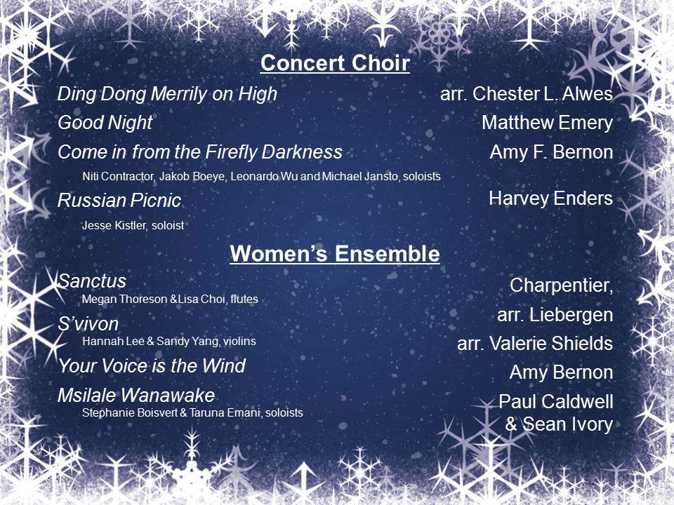 Concert Choir Women's Ensemble