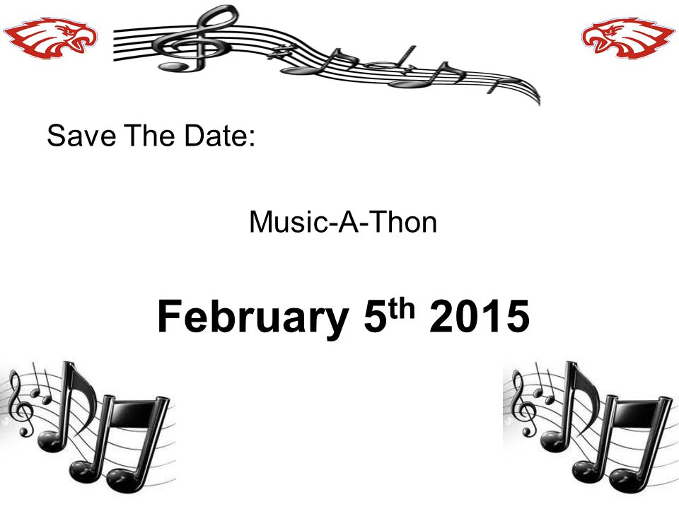 Save The Date: Music-A-Thon February 5th 2015
