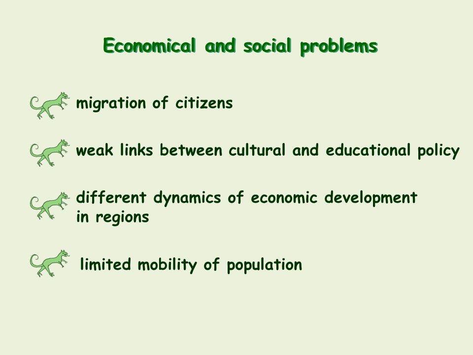 Economical and social problems