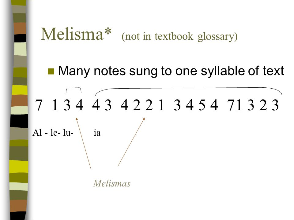 Melisma* (not in textbook glossary)