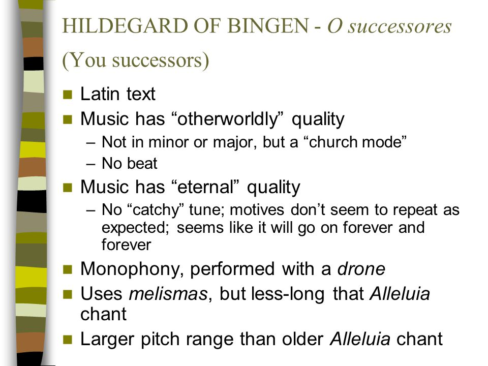 HILDEGARD OF BINGEN - O successores (You successors)