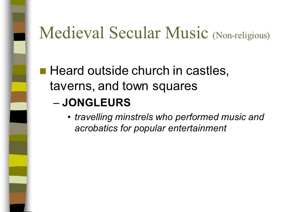 Medieval Secular Music (Non-religious)