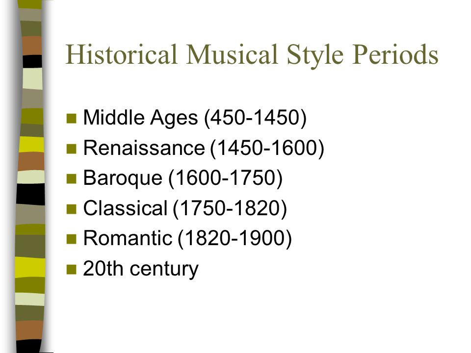 Historical Musical Style Periods
