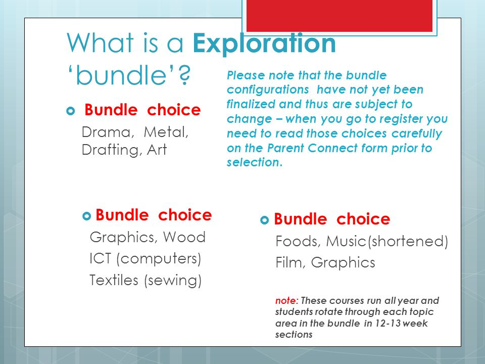 What is a Exploration 'bundle'